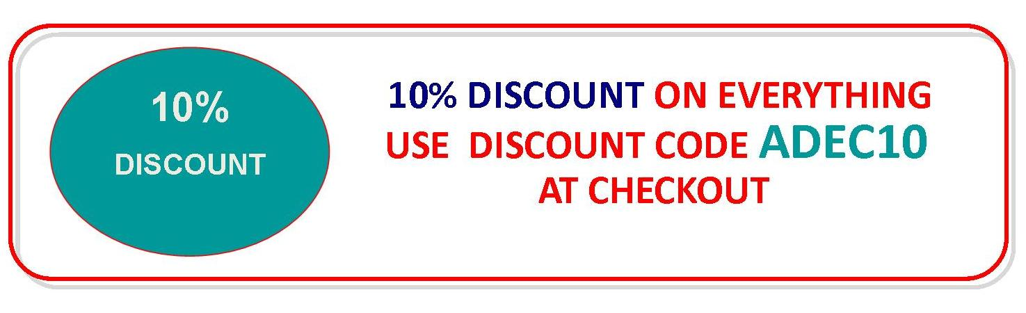 10% Discount with Code ADEC10
