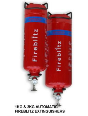 fireblitz automatic dry powder extinguishers